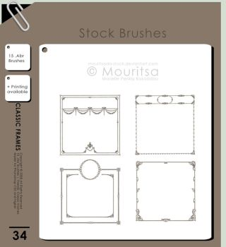 Brush Pack - Classic Frames by MouritsaDA-Stock