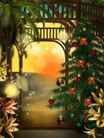 Sunny Christmas free background by KlaraKay