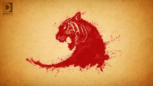 tiger splatter by dnhart13
