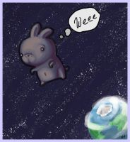 Collab:Bunbun in space...weee by kangel