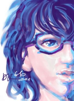A Girl_IPAD SKETCH by songalone