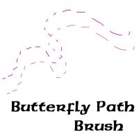 Butterfly Path Brush by sd-stock