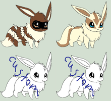 Eevee Custom Adoptables [Open 3/4 Taken] by ReinFalling