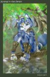 Krystal in the forest by BlackBy