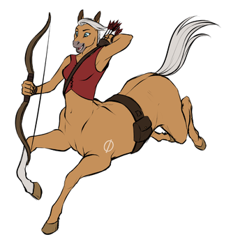 Andrea the Equitaur by Nightrizer by HewyToonmore