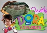 DUMBLEDORA THE EXPLORER WITH HARRY BOOTS by fireycheetah