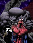 Spiderman colored by Anothen
