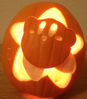 Kirby Star Pumpkin - Light by johwee