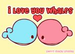 I love you whales by ItsBesudesu