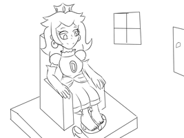 A Royal Footstool by SpriteFeetFetish