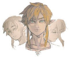 LoZ: BotW Doodles by saltycatfish