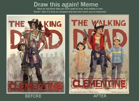 Draw This Again Meme: TWDG Clementine by handraw