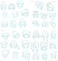 Naruto Character Hair Guide by JauntyEyes