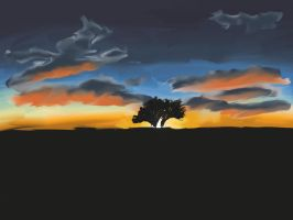 Painted Sunset by krazy3