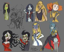Cartoon Sketchdump June 2012 by Alias-Hugo
