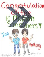 .:Smosh: 10 MILLION SMOSHERS:. by Shadystar95