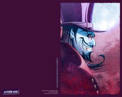 Dracula Portrait Wallpaper by CapMoreno