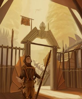 The Keeper of the Gate by Foxflake
