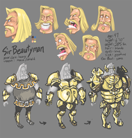 Sir Beautyman Model Sheet by FutureDami