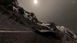 Old Ferrari Drifting therough the Mountains by DaFaithful1