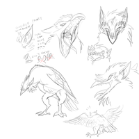 more haruki monster sketches by Spoonfayse