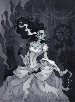 Bride of Frankenstein by IrenHorrors