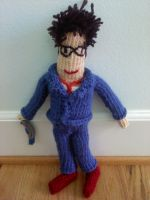 Knitted 10th Doctor 2 by thenextdoctor42