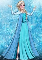 Frozen Coloring Page by sugapiessofly