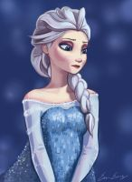 ElsaFrozen by Rinevee