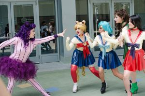 Sailor scouts VS Catsy by KellyEden