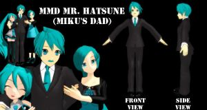 MMD Mr Hatsune -Mikus Dad- DL by SachiShirakawa