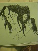 Hagi with his hair up from Blood Plus by captonstu