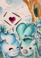 friends (ACEO 58) by Naousuke