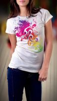 Colorful T-shirt by Fionka14