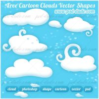 Free Cloud Custom Shapes by PsdDude