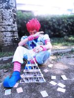 Hisoka's castle of cards by YUGIOHPASSIONCOSPLAY
