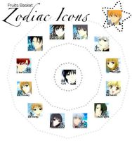Fruits Basket: Zodiac Icons by lettiehatter