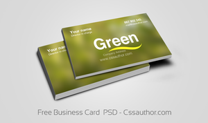 Free Business Card  PSD by cssauthor