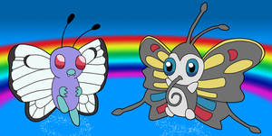 Butterfree and Beautifly by BlueSmudge