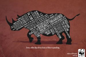 WWF Campaign Rhino by AirDuster
