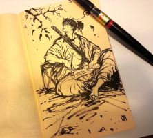 Sketchbook, sketching samurai by MyCKs