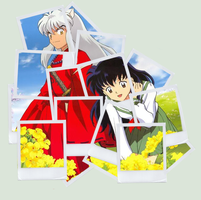Inuyasha Polaroid Collage by xjesus-freakx