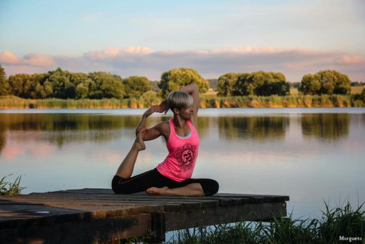 Yoga by the lake by margueta