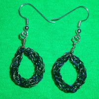 Seahawk earrings 2 by Shiningstarofwinter