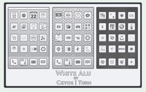 White Alu by turnpaper