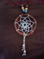 Wood Beaded Dream Catcher by EllasDesigns
