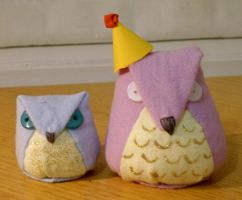 plushie owls by sophx
