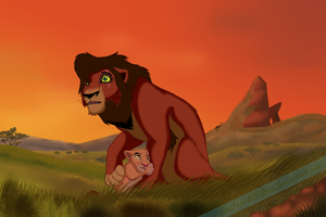 Kovu and Jamali by NewSea-ANother