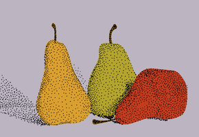 Stippled pears, colored by AmbroseButtercrust