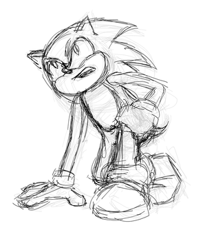 Sonic Sketch by isora683